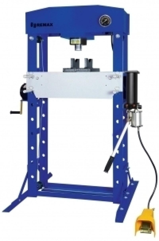 Пресс гидравлический 50т HJ0811CE (SD0811CE) напольный, привод- ручной/пневматический